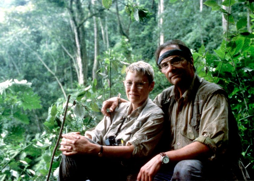 Ted & Betsy Lewin in the jungle